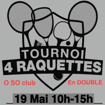 Tournoi 4 raquettes